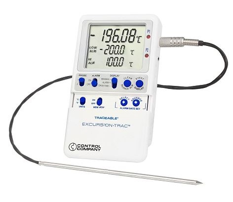 Liquid Nitrogen Excursion-Trac™ Traceable® DataLogger Thermometer