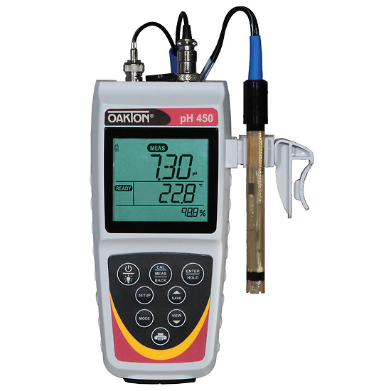 Waterproof Ph Meters : Wd oakton waterproof ph meter and probe