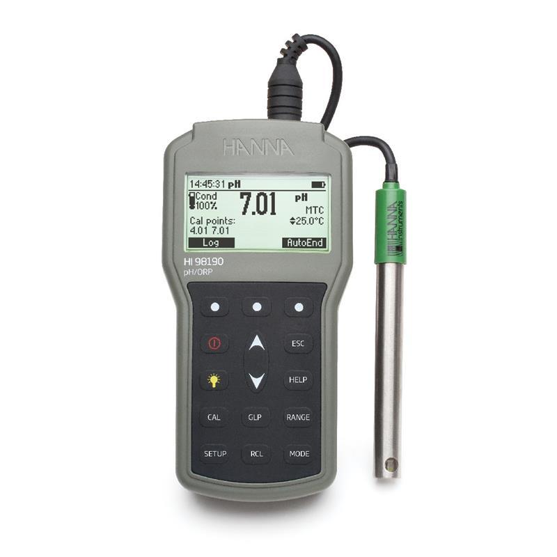 Hanna Ph Meter : Hi waterproof portable ph orp meter hanna instruments