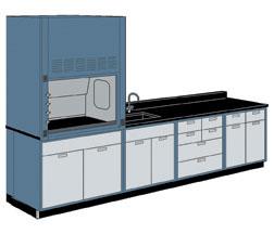 Hmlab011 Hamilton Modular Wall Workstation With Safeaire