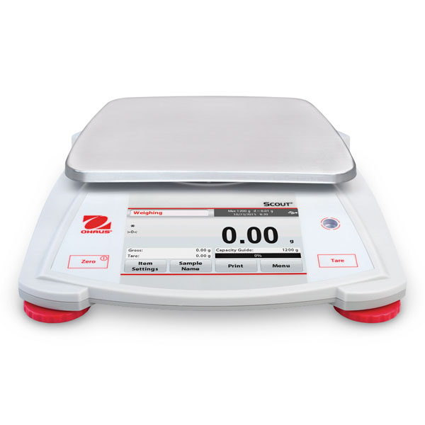 Ohaus Scout STX222 Portable Balance 220g x 0.01g with Touchscreen 30253007
